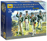 Модель Русская линейная пехота 1812-1814
