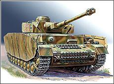 Сборная модель Немецкий средний танк   T-IV H.