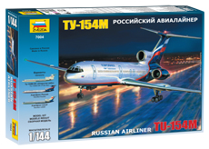 Российский пассажирский авиалайнер ТУ-154М