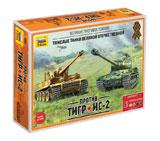 Сборная модель Ис-2 против Тигра!