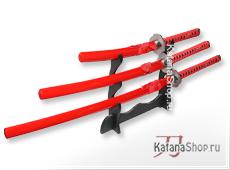 Красные самурайские мечи