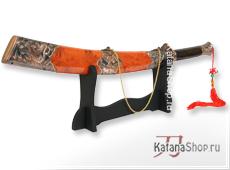 Китайский меч Longhubaodao в коричневых ножнах