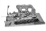 Металлическая модель  Т34-85