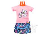 Платье детское Кошечки розовое (1 годик)