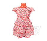 Платье детское алое в цветочек (3 годика)