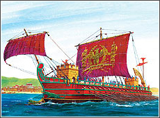 Сборная модель Римская императорская трирема