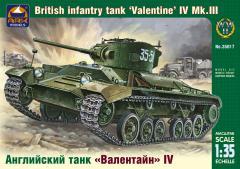 Сборная модель Английский танк «Валентайн» IV