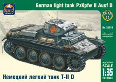 Сборная модель Немецкий лёгкий танк Т-II D