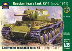 Сборная модель Советский тяжёлый танк КВ-1 (обр. 1941 года)
