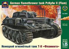 Сборная модель Немецкий огнемётный танк ТII «Фламинго»