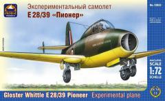 Сборная модель Экспериментальный самолёт Е 28/39 Глостер «Пионер»